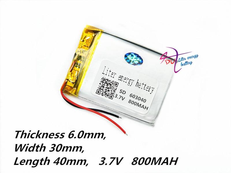 lityum polimer batareya 063040 603040 3.7V 800mah MP3 MP4 GPS Tablet - Planşet aksesuarları - Fotoqrafiya 3