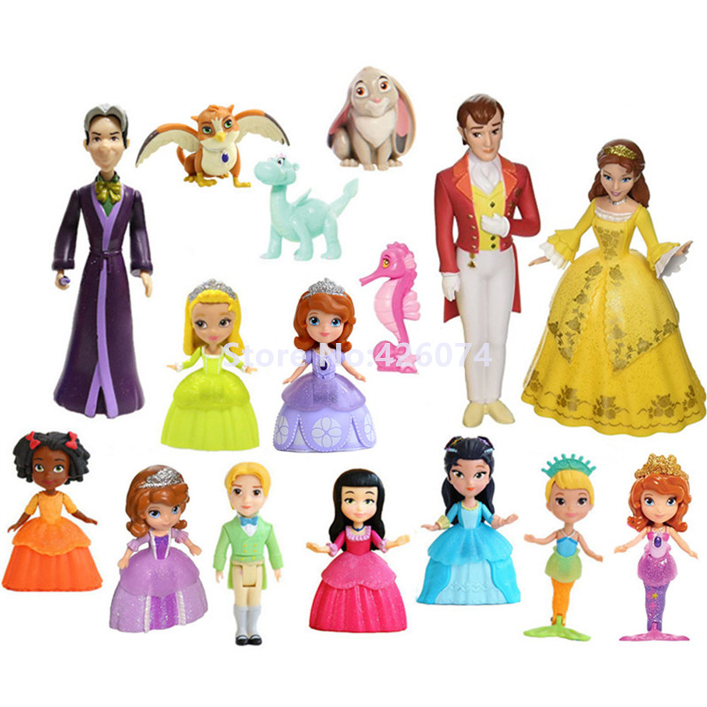 New Fashion Royal Family Set Amber James Queen Miranda King Roland Mini Figures Dolls For Girls
