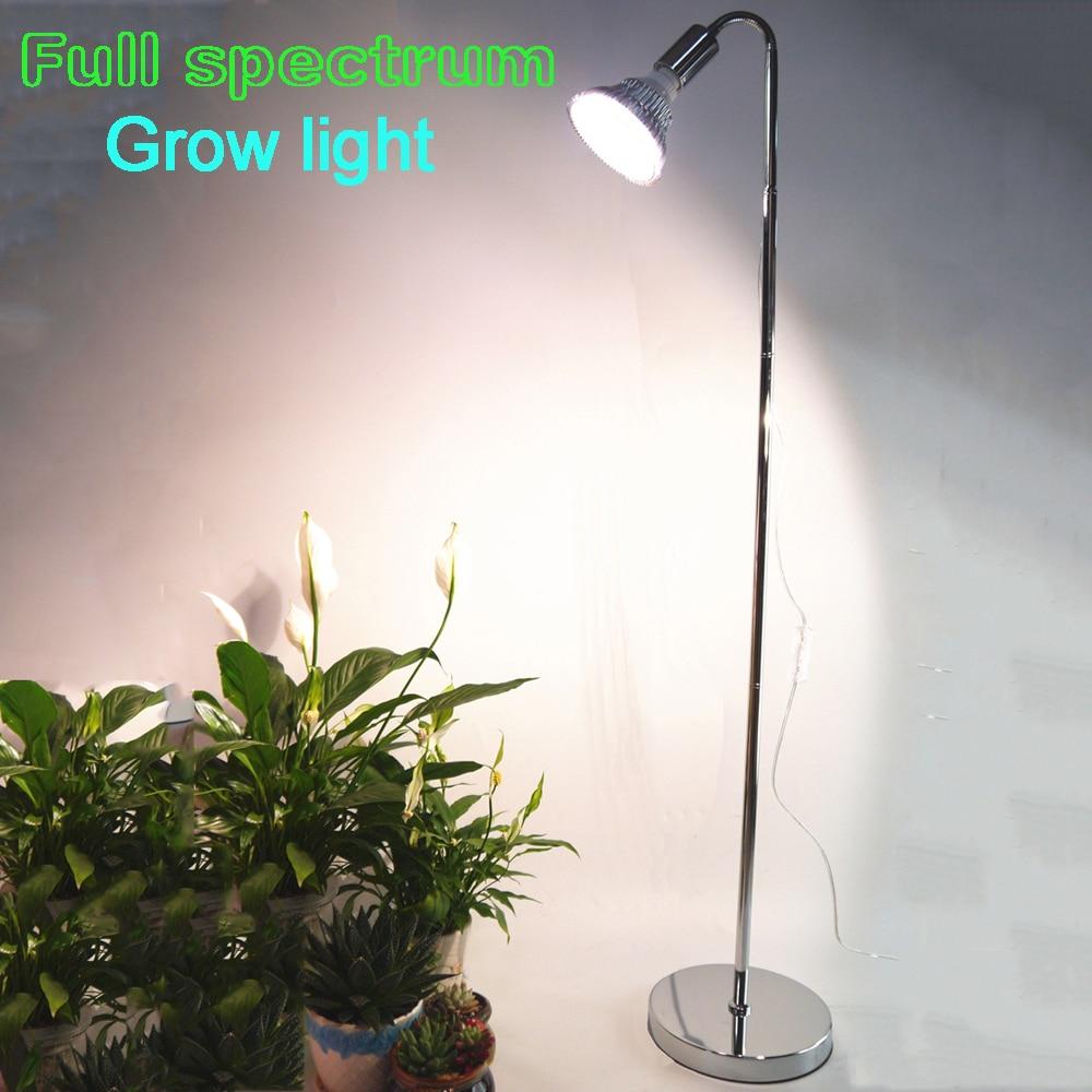 Plant grow lamp for flower racksfull spectrum growth for Led plant floor lamp