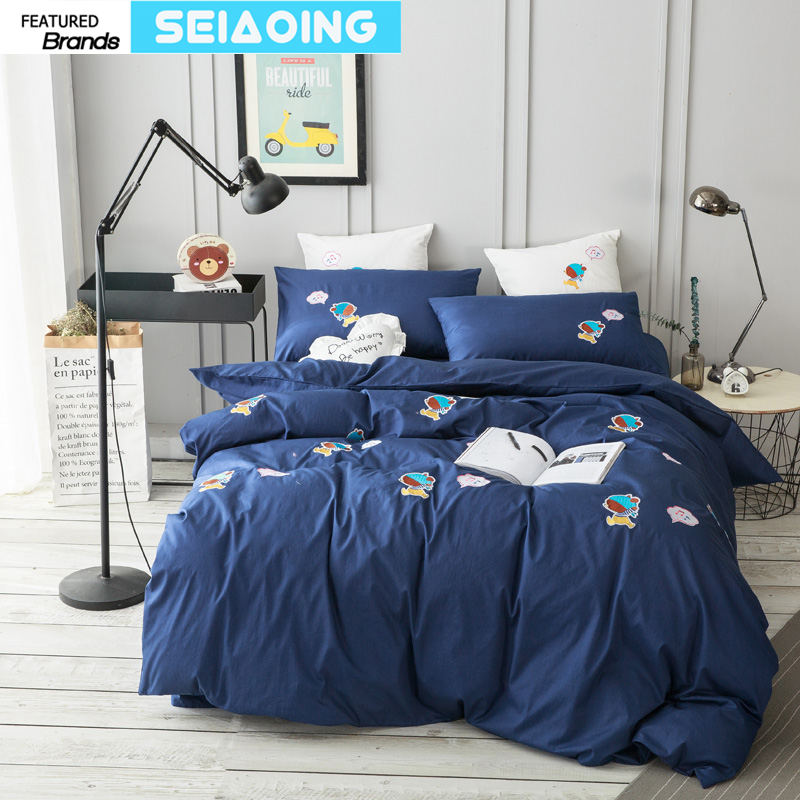 Home Textile Svetanya Simple Cotton Bedding Set Teens Adults Bed Linen 100% Cotton Bedclothes Moderate Cost