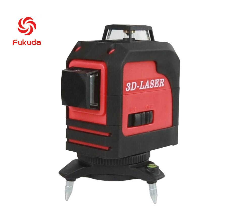 Фукуда бренд 12 линии 3D MW-93T лазерный уровень наливные 360 горизонтальный и вертикальный крест супер мощный красный лазерный луч линии