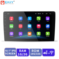 EKIY 10.1 Inch IPS Android Car Multimedia Player No 2 Din Universal Auto Radio Stereo For Toyota For Nissan GPS Navigation WIFI