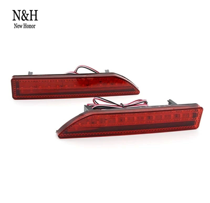 a pari of For Honda city 2012~2014 CRV 2007~2009 Reflector LED back Tail Rear Bumper Light Brake lamp brake light