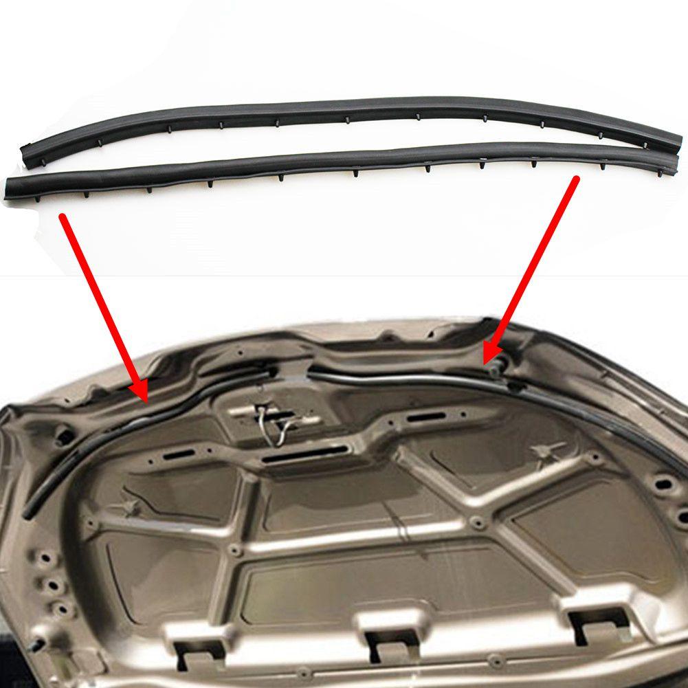 LARBLL 2 ชิ้น/เซ็ตด้านหน้า Hood Sound - proof Seal Strip สำหรับ Peugeot 301 2014-2016 สำหรับ Citroen Elysee