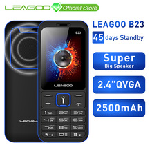 LEAGOO B23 תכונה נייד טלפון בכיר ילדים מיני טלפון רוסית מקלדת 2G GSM לדחוף כפתור מפתח נייד