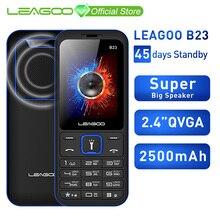 LEAGOO B23 özellikli cep telefonu kıdemli çocuklar Mini telefon rusça tuş takımı 2G GSM basma düğmesi anahtarı cep telefonu