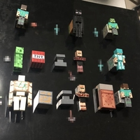 28pcs 9set Minecraft Toys PVC Action Figures Armor Sword Stone Model Block Toy Collectible Gift For