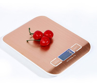 LCD Numérique Balance de Cuisine D'empreintes Digitales-preuve Plate-Forme En Acier Inoxydable 5000g/1g Pesage Dispositif Électrique Alimentaire Poids échelles