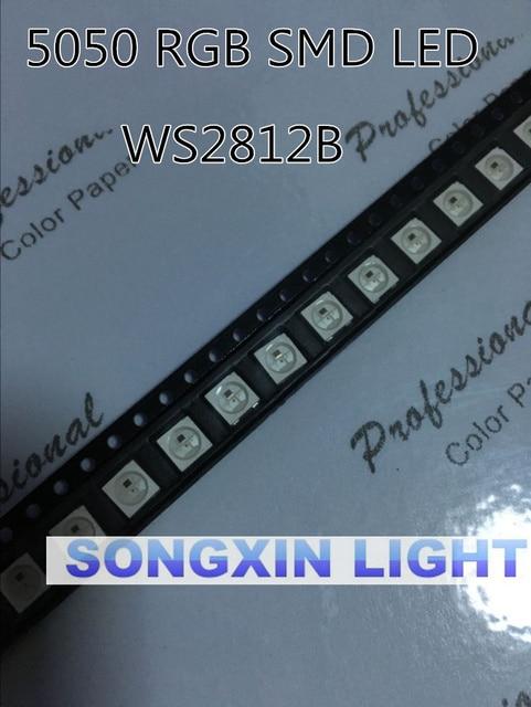 1000 قطعة ws2812 2812 LED رقاقة IC مصلحة الارصاد الجوية 5050 WS2812B (4 دبابيس) 5050 مصلحة الارصاد الجوية ث/WS2811 فردي عنونة الرقمية RGB LED رقاقة 5 فولت