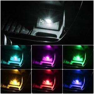 Image 2 - USB Led dekorative lampe ip neon lichter auto atmosphäre umgebungs lichter dj RGB fso in die auto stroboscopes für auto produkt für auto