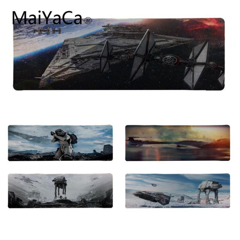 MaiYaCa Boy Gift Pad Star Wars 4K Rubber Mouse Durable Desktop Mousepad Size for 11.8*31.5inch 11.8*35.4inch