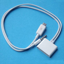 Micro USB to 30 Pin for iPhone 4S Dock 3.5mm Audio Adapter Converter Charger Cable