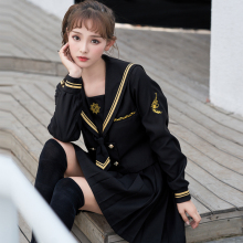 UPHYD Anime Cosplay Uniform Shops Sailor Suits Halloween Costume School Girl Uniforms Shirt+Skirt S-2XL School Uniform