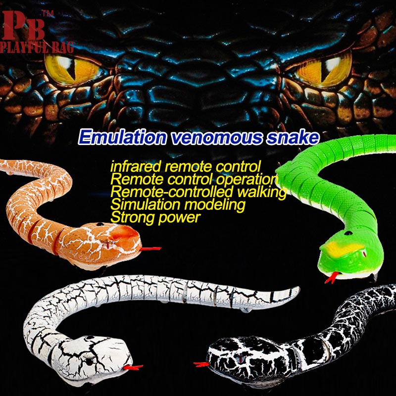 2018 new snake tricky high simulation of infrared remote control animal model spoof puzzle toys