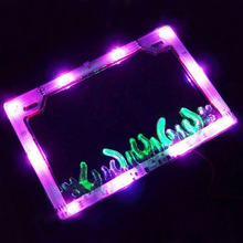 12V Motorcycle License Plate Holder Bracket Flash LED Lighting Flip License Flate Frame Fender Motorcycle Tail Light