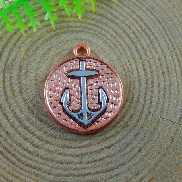10pcs Men Women Rose Gold I mitation Boat Anchor Jewelry Pendants