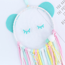 INS Nordic Cartoon Animal Shape Dream Catcher Wooden Wind Chimes Wall Hanging Ornaments Kids Room Decoration Nursery Photo Props