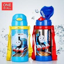 360 ml Bebé Paja Termo Drinkware Termo Niños Botella de Agua Portable Copas de Vacío de Acero Inoxidable Frasco Botella de Agua del bebé