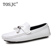 TOSJC Hot Sale Male Tassel Loafers Crocodile Pattern Boat Shoes Mens Lightweight Moccasins Casual Breathable Man Driving