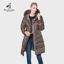 Snow Classic The New 2018 camperas mujer abrigo invierno jacket women coat women park High-end wool Wear a hat thick Windproof