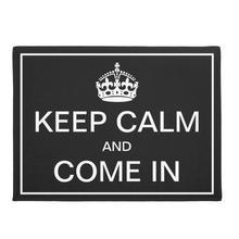 Забавный сохраняющий спокойствие и добро пожаловать коврик у входной двери черный белый корона Цитата коврики для передней двери гостиной напольный кухонный коврик