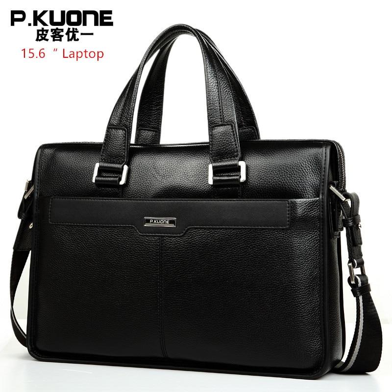 Brand Design 15 6 Laptop Bag Natural Cowskin Men s Business Bag Briefcase Fashion Genuine Leather