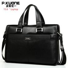 """Brand Design 15.6"""" Laptop Bag Natural Cowskin Mens Business Briefcase Fashion Genuine Leather Shoulder Messenger Bags"""