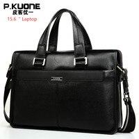 Brand Design 15.6 Laptop Bag Natural Cowskin Men's Business Bag Briefcase Fashion Genuine Leather Shoulder Bags Messenger bags