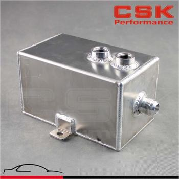 Universal 3L Aluminum oil catch can tank with breather & drain tap 3LT baffled