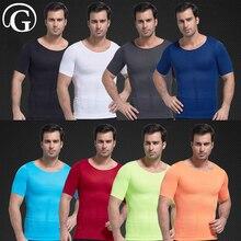 Homens Emagrecimento Abdômen PRAYGER controle Regatas Tanque Masculino Top Compressão Corpo Shaper Cueca Colete Shapewear