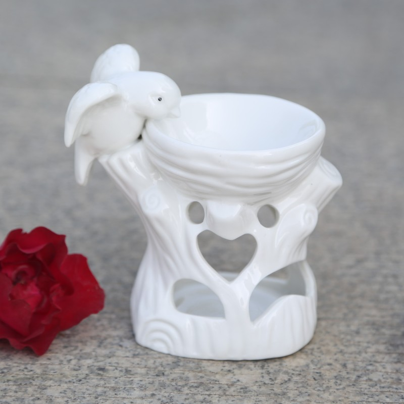 White Ceramic Aromatherapy Oil Light Woodpecker Water Furnace Incense Burners 9*11*7 cm  candles 9/11 | 9/11: Candlelight vigil White Ceramic Aromatherapy Oil Light Woodpecker Water Furnace Incense Burners 9 11 7 cm