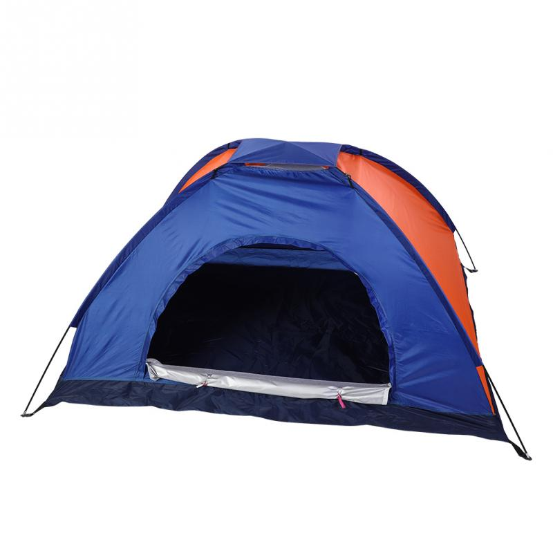 Folding Camping Tent Single Layer 1 2/3 4 Person UV ...