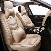 (Front + Rear) Universal Flax car seat covers For Fiat Uno Palio Linea Punto Bravo 500 Panda SUV car accessories auto styling