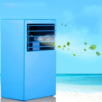Portable Summer Mini Personal Air Conditioner Fan,Air Conditioner Evaporative Air Cooler Misting Desktop Table Desk Cooling Fa