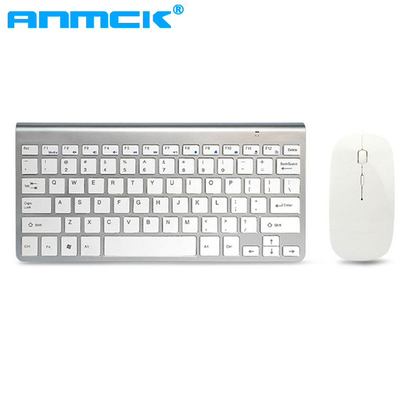 Anmck Wireless Keyboard And Mouse Combo Ultra Thin 2.4ghz USB Reiver Ergonomic Slim Keyboard Mouse Set For PC Laptop