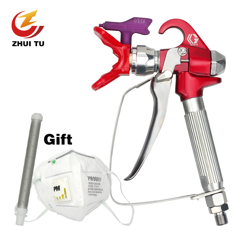 3600PSI Airless Paint Spray Gun For Wagner Titan Sprayers With 517 Tip Nozzle Tools