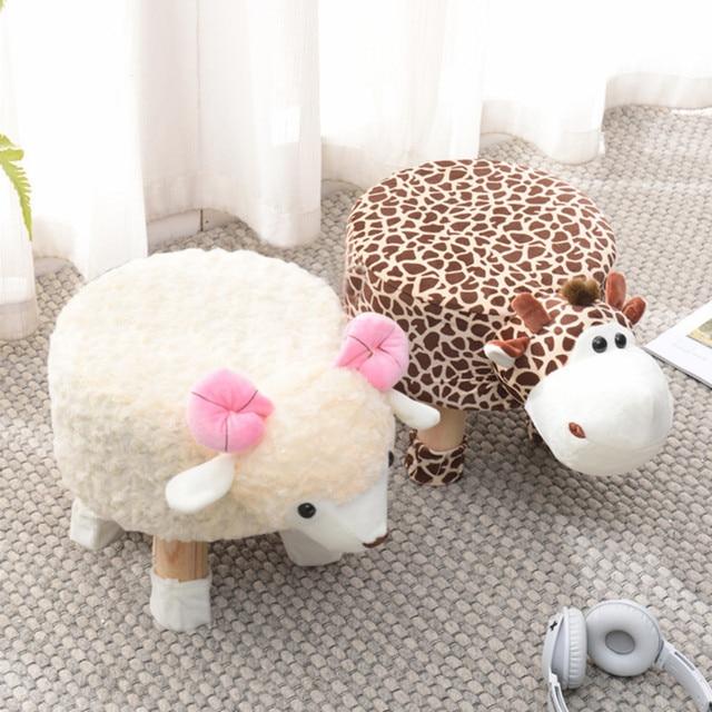 Sapatas animais Sofá Fezes Fezes de Estar Em Casa Do Bebê Bonito Dos Desenhos Animados Para Crianças Criativas Pequeno Banco Cadeira Baixa
