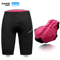 Santic Black Reflective Stripe Women S Cycling Shorts Biking 4D Padded Mountain Bike Tights Bicycle Shorts