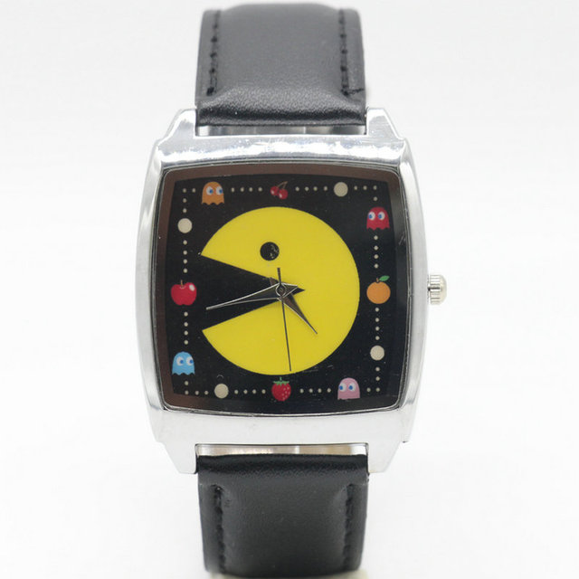 Free Shipping PAC MAN cartoon children watches students kids wristwatch watches