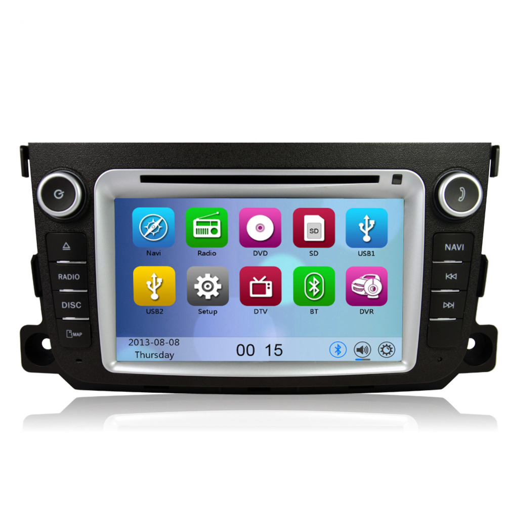 Free Shipping Car Dvd Player Gps Navigation System Radio For Benz Smart Fortwo   Bluetooth