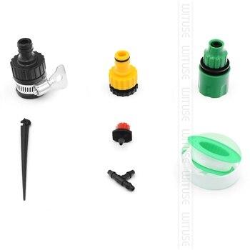 2 Opciones 5 M-30 M DIY Micro Sistema De Riego Por Goteo Planta Auto Automático Temporizador De Riego Juegos De Manguera De Jardín Ajustable Con Gotero