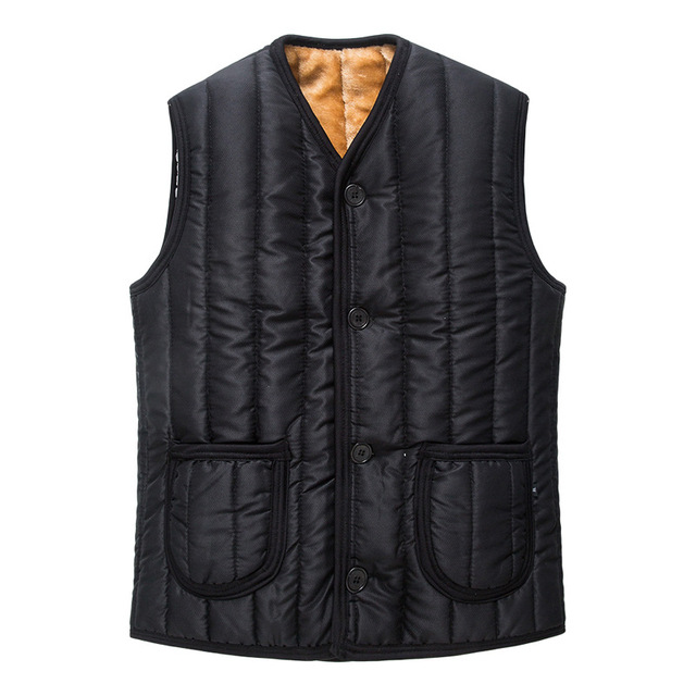 Thick Fleece Warm Men Winter Vests Sleevless Jacket Waistcoats with Pocket for Man Casual Work Wear Big Size XL-4XL