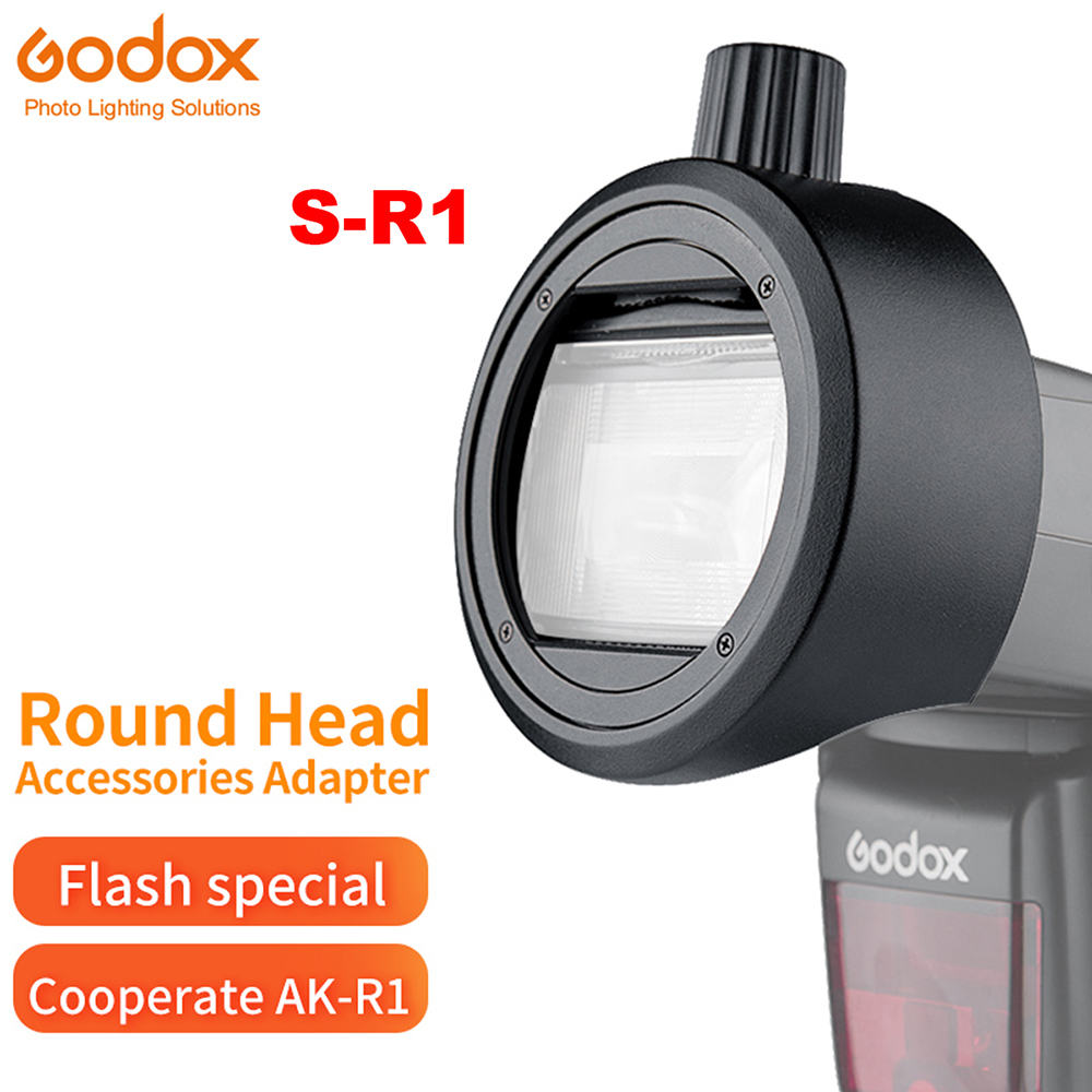 Godox S-R1 Flash Speedlight Adapter AK-R1 Adapter Ring For Godox TT685 V850II V860II TT600 Yongnuo Canon Nikon Sony Flash Light