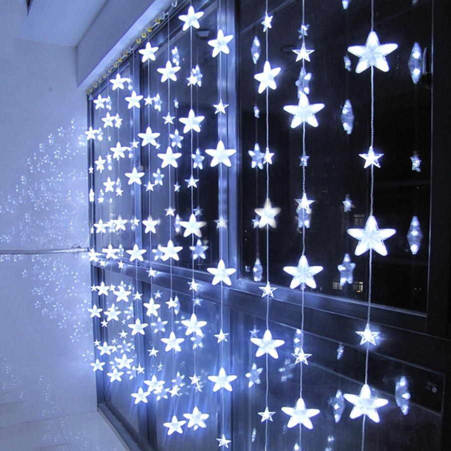 Thrisdar 3.5M 252 LED romantique fée étoile LED rideau chaîne lumière 8 Mode noël mariage vacances fenêtre glaçon guirlande lumière