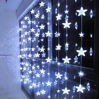 Thrisdar 3.5M 252 LED Romantic Fairy Star Led Curtain String Light 8 Mode Christmas Wedding Holiday Window Icicle Garland Light