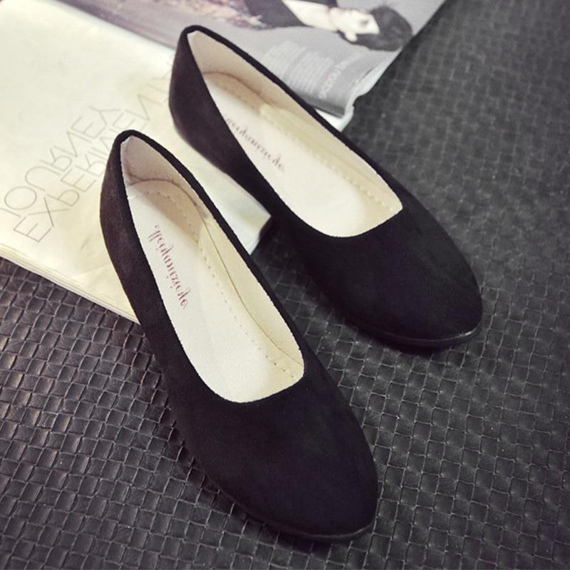 2017 Women Shoes Flock Slip-On Pointed Toe Shallow Dance Shoes Flats Solid Casual Shoes Footwear Fashion Girls Spring/Summer enmayer pointed toe summer shallow flats slip on luxury brand shoes women plus size 35 46 beige black flats shoe womens