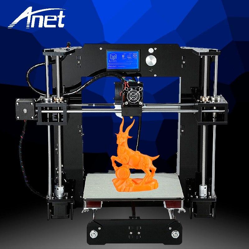 Mise à niveau Anet A6 3D imprimante haute précision Prusa i3 Kit de Filament d'assemblage facile 8 GB carte SD écran LCD lit chaud entrepôt de moscou
