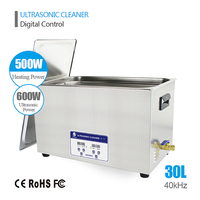 SKYMEN Ultrasonic Cleaner 30L 600W Industrial/Commercial component/Auto Engine Parts/Hospital Medical