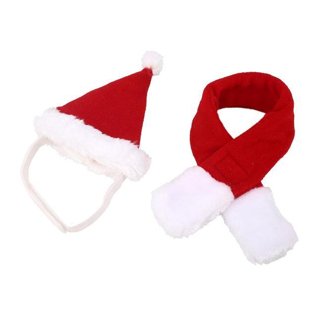 8296c9959 Lindo perro mascota gato Puppy Caps conjunto de bufanda de Navidad Cosplay  accesorios de felpa Acrylon
