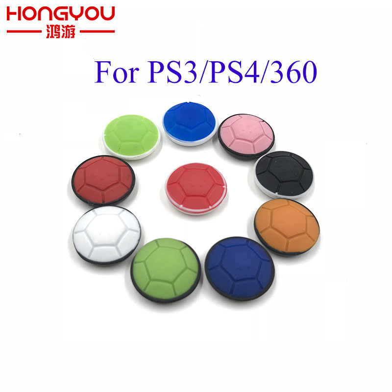 2Pcs Silicone Analog Controller Thumb Stick Grips Cap Buttons for Sony Play Station4 PS4 For PS3 XBOX 360 Spiral Thumb Sticks